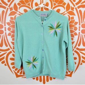 Vintage Mint Green Scottish Cashmere Sweater